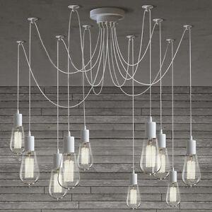 Multi pendant light ebay modern chic multi pendant chandelier adjustable diy ceiling spider pendant light aloadofball Gallery
