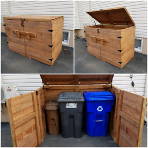 Treated wood bins shed