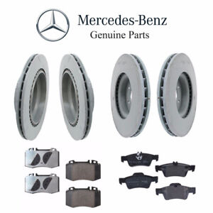 New Mercedes Front and Rear Disc Brake Rotors and Pads KIT