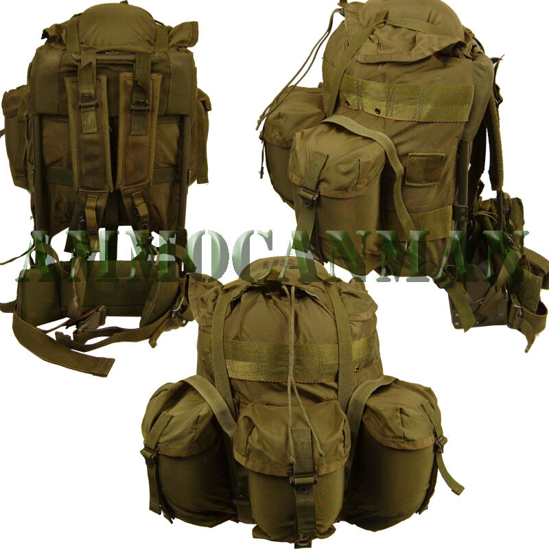 NEW UNISSUED BUG OUT BAG MEDIUM USGI ALICE PACK RUCKSACK COMPLETE OD GREEN
