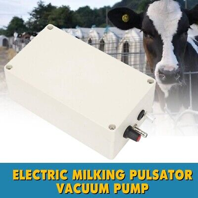 Electric Milking Pulsator Vacuum Pump Air Cow Milking Machine Milker 12v