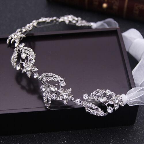 Silver Wedding Hair Vine Crystal Bridal Dress Accessories Diamante Headpiece
