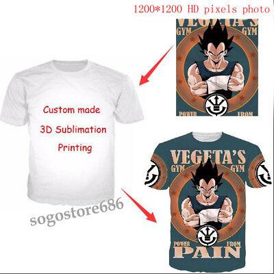 Men Women customer's own design Print 3D T-Shirt Short Sleeve Tops Tee Best