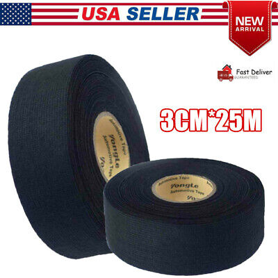Wire Harness Tape Adhesive Wiring Loom 3cm25m Cloth Fabric Tape Cable Looms