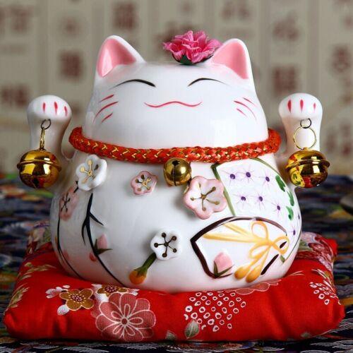 Lucky Cat Coin Bank Figure Maneki Neko Piggy Bank For Wealth Business Gifts