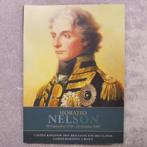 2005 UK £5 Horatio Nelson Uncirculated Coin