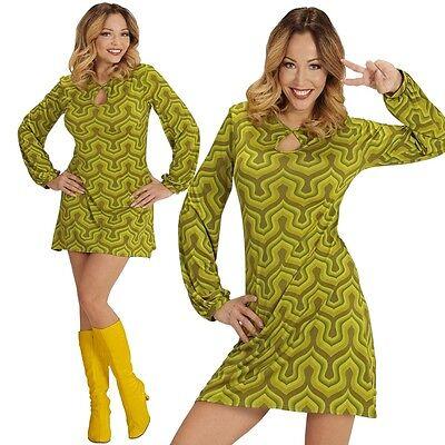 GROOVY LADY GIRL 42/44 L HIPPIE Retro Kleid - Hippie Kleider Kostüm