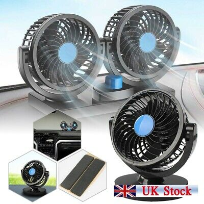 2 Gears 12V Car Cooling Fan Cooler Air Conditioner 360° Rotating Mini Low Noise