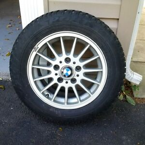 NEW Dunlop winter tires, BMW rims 205/60R15 - $300 for set of 4