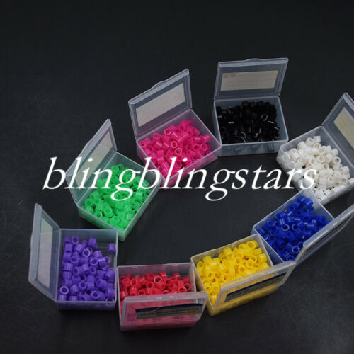 100/Box Dental Silicone Color Code Rings Bands Hygienist Instruments 10 Colors
