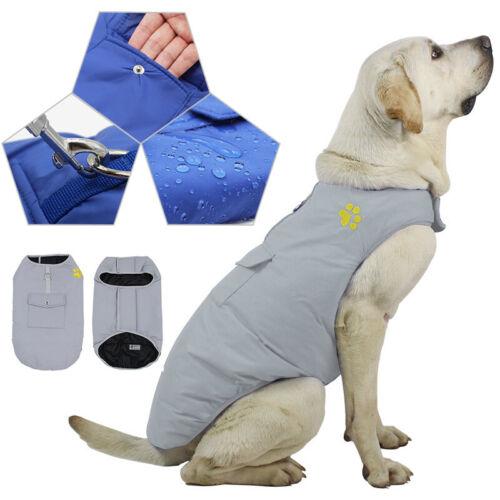 Wasserdicht Haustier Weste Kleidung Hundejacke Wintermantel Regenmantel Gr. S-XL