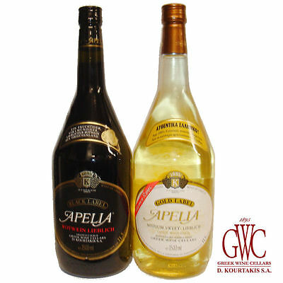 Greek Wine Cellars Set Imiglykos 2x 1,5l Apelia Gold und Black Label