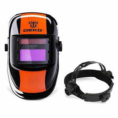Deko Solar Auto Darkening Welding Mask Mig Mma Electric Helmet Welder Cap
