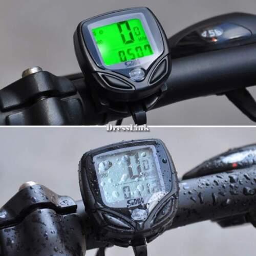 Bici wireless Computer bicicletta tachimetro contachilometri LCD impermeabile