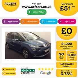 Citroen Grand C4 Picasso FROM £51 PER WEEK!