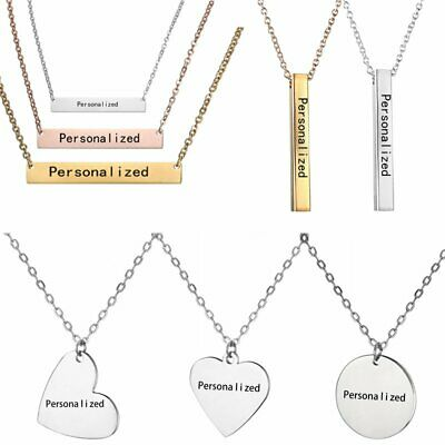 Personalized Engraved Custom Name Letters Stainless Steel Necklace Pendant Gifts - Personalized Gift