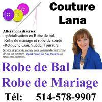 Couturiere LAVALTRIE,Robe de Bal, Mariage, mariée, Alteration