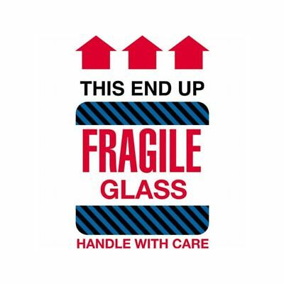 Box Packaging Fragile Glass - This End Up Labels 4 X 6 500 Per Roll 1 Roll