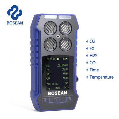 4-in-1 Gas Alert Multi Gas Monitor H2s Lel Co O2 Detector Harm Gas Analyzer