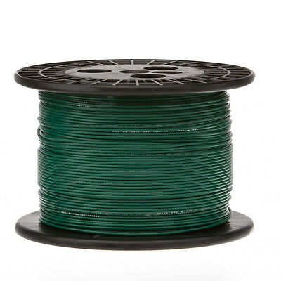 22 Awg Gauge Solid Hook Up Wire Green 1000 Ft 0.0253 Ul1007 300 Volts