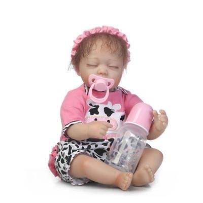 18'' NPK Silicone Vinyl Reborn Doll Newborn Toddler Baby Girl Dolls + Clothes