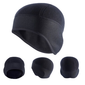 Men s Outdoor Beanie Hats Ear Warm Winter Thermal Fleece Cycling Running  Ski Cap c8354ab39a4