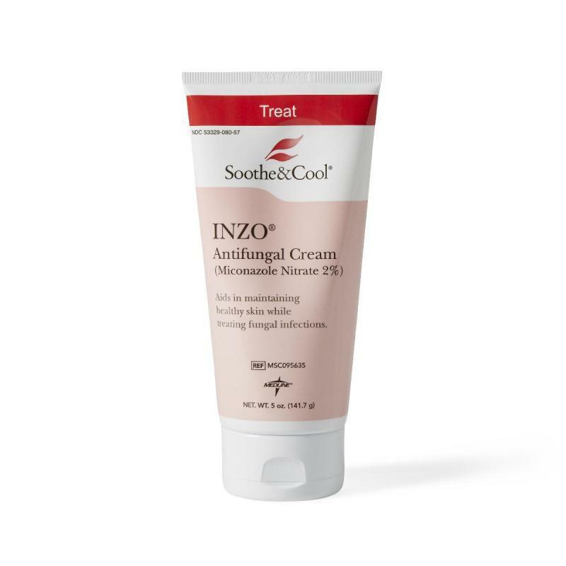 MEDLINE Soothe & Cool INZO Antifungal Creams,White,5.00 OZ 1 Each / Each