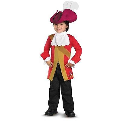 Toddler Peter Pan TV Disney Jake and the Never Land Pirates Captain Hook Costume