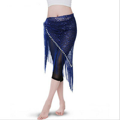 Belly Dance Dancing Tassel Belt - 2017New! Belly Dance Dancing Costume Pearl tassel hip scarf Belt 3 colors