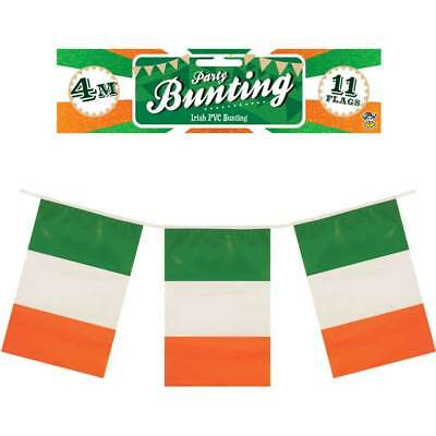 Irish 12ft Flag Bunting 11 EIRE Ireland Flags St Patrick's Day - Irish Flag Bunting
