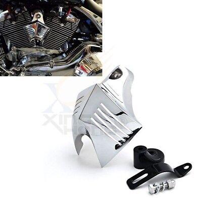 Chromed Horn Cover V-Shield Custom  For 1992-2013 Harley Big Twins Stock Cowbell](Custom Cowbells)