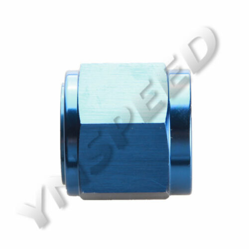 10AN AN-10 AN10 Flare Cap Caps Aluminum Fitting Adaptor Blue