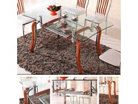 Dining Table ONLY Furniture Room Set GLASS TABLE