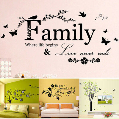 Family Tree Bird Home Wall Decal Sticker Vinyl Photo Picture Frame Removable (Family Tree Wall)