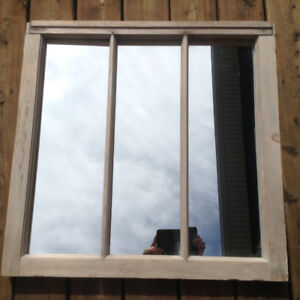 Old Window Frame with Mirror