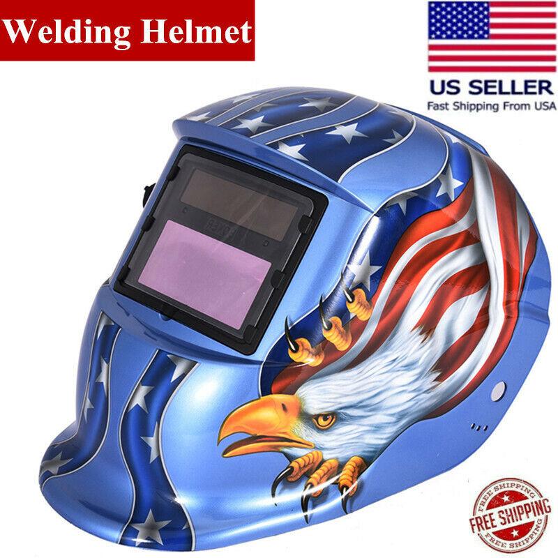 Solar Power Auto Darkening Welding Helmet Arc Tig Mig Grinding Weld Mask  H