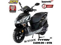 Lexmoto titan 125cc scooter/moped IN STOCK