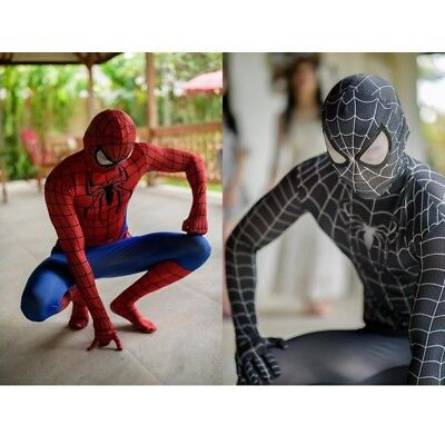 Deguisement Halloween Adulte (Costume Déguisement Cosplay Spiderman Homme Adulte Spandex Halloween)