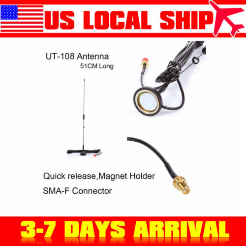 SMA-F Dual Band UHF VHF Magnet Car Vehicle Mounted Antenna For BaoFeng USA SHIP