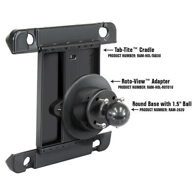 RAM Roto-View Adapter Plate, Easy 360 Degree Rotation for RAM Tablet Holders, used for sale  Shipping to India