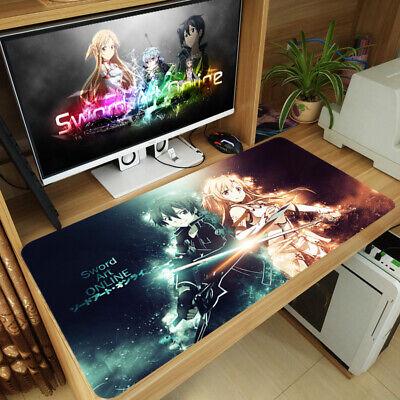 Anime Sword Art Online Asuna Yuuki Kirito Mouse Pad Mat Gaming Play Mat Desk Pad ()