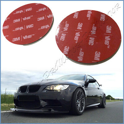 - 2Pcs*58mm 3M DIY Black Acrylic Foam Tape Round Double Side Adhesive Sticky Pads