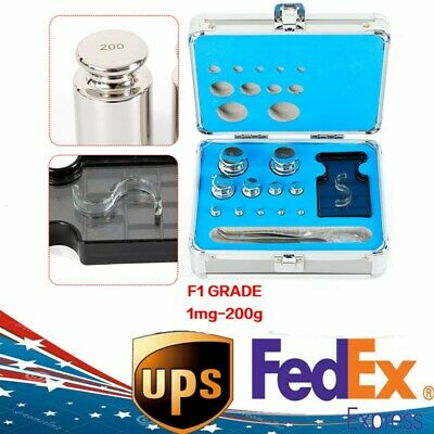 304 Stainless Steel Class F1 Calibration Scale Weight Kit Set 1mg-200g 25pcs