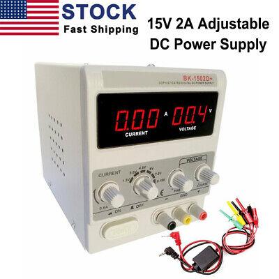 015v 2a Adjustable Dc Power Supply Variable Precision Dual Digital Lab Test Us