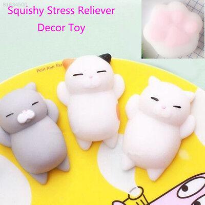 BB08 Cute Mochi Squishy Cat Squeeze Healing Fun Kids Kawaii Toy Stress Reliever  ()