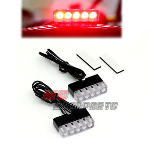 Universal Foot Pegs LED Rear Brake Light For Triumph Sprint ST RS GT