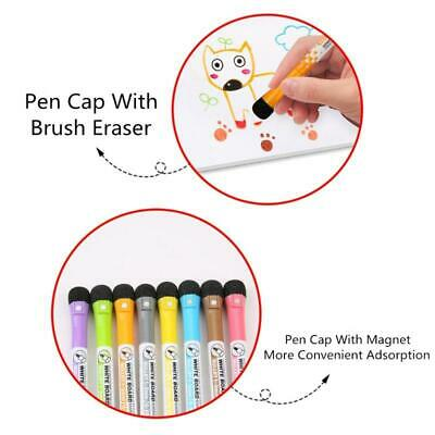 Magnetic Dry Erase Markers 8 Pack Low Odor White Board Markers With Erasers