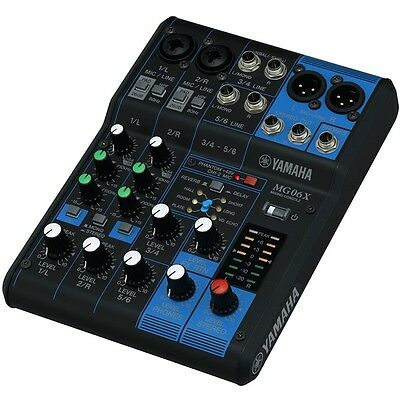 Yamaha MG06X 6-Channel Stereo Mixer with Effects - Authorized Dealer for sale  Shipping to India