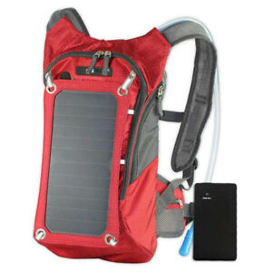 Hydration Solar Charger Backpack with 7Watts Solar Panel
