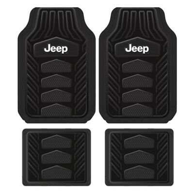 New 4pc JEEP All Weather Pro Heavy Duty Rubber Floor Mats Set Official